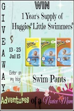 1 year's supply of HUGGIES® Little Swimmers® swim pants with Little Swimmers, Xmas Ideas, Cool Stuff, Stuff To Buy, Giveaway, Competition, Things To Do, About Me Blog, Swimming