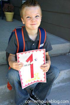 First Day of School FREE printables for pictures