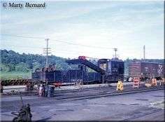 Burlington steam crane #204351 at Dayton, Minnesota's Bluff Yard just outside of St. Paul during June of 1964.
