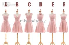 Wholesale Bridesmaid Dress - Buy 2014 New Blush Column Chiffon Most Popular Bridesmaid Dress Mixed Styles, $65.63 | DHgate