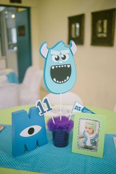 Marius' Monster Inc Themed Party – Table Setup