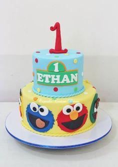 Sesame Street Elmo birthday cake by Cupcake Couture Davao  www.facebook.com/cupcakecouturedavao