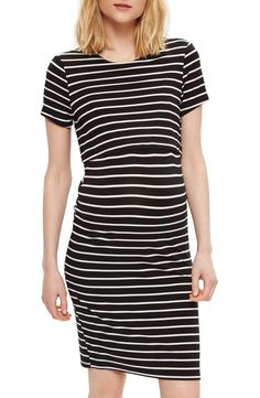 Energetic Topshop Striped Maternity Dress Diagonal 14 M Customers First Women's Clothing