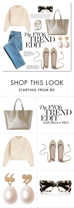 """""""Labour day"""" by yihansong ❤ liked on Polyvore featuring Rochas, Miró, Philosophy di Lorenzo Serafini, Garance Doré, Love Is, Prada and Mulberry"""