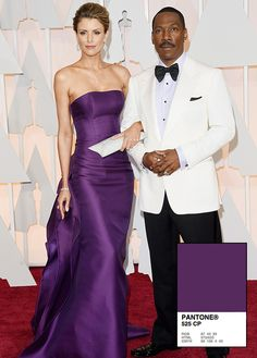 This purple gown is timeless.