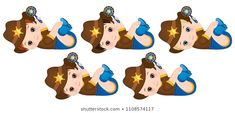 Vector cute little baby boys dressed as cowboys. Cute Little Baby, Little Babies, Baby Boy Dress, Portfolio, Baby Boys, Cowboys, Scooby Doo, Fictional Characters, Art
