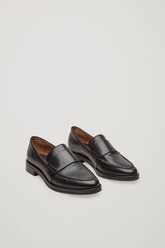 Classic leather loafers - Black - Shoes - COS NL
