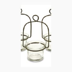 Wire candle holder