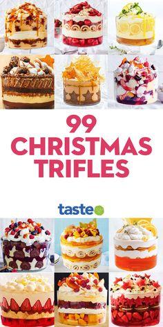 Trifle Bowl Recipes, Trifle Desserts, Trifle Recipe, Mini Desserts, Easy Desserts, Delicious Desserts, Trifle Dish, Christmas Trifle, Best Christmas Desserts