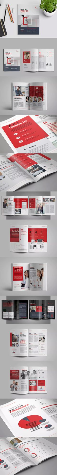 Business Brochure Template InDesign INDD A4 and US Letter