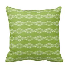 """Green and white, diamond abstract pillow.  16""""x16"""" , 20""""x20"""", 13""""x21"""".  http://www.zazzle.com/littlethingsdesigns?rf=238200194340614103"""