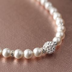 Swarovski Pearl and Crystal Pave by jjensenweddings on Etsy