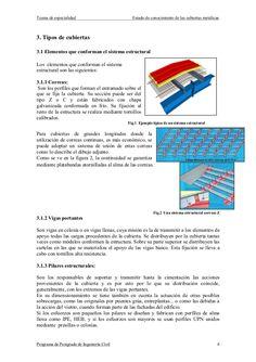 Tesina de especialidad Estado de conocimiento de las cubiertas metálicasPrograma de Postgrado de Ingeniería Civil 63. Tipo...