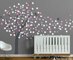 Wall Decals Cherry Blossom Tree Modern Baby Nursery by DecalLab, $124.00