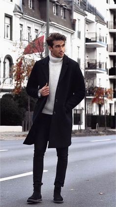 Wonderful Men Winter Outfit Ideas is part of Mens winter fashion - Men's winter wear is no more a protection garment but a style statement Gone are the days of a simple […] Mode Masculine, Classy Suits, Classy Casual, Classy Man, Classy Style, Smart Casual, Old School Fashion, Winter Stil, Casual Wear For Men