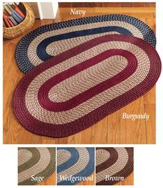 Traditional Braided Accent Rug