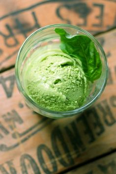 Basil Gelato - Put all the ingredients in a food processor and blitz; then, heat all the ingredient in a saucepan until they reach 170 degrees Fahrenheit; finally, cool, mix, and chill.