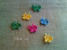 小さなちょうちょの作り方|編み物|編み物・手芸・ソーイング|アトリエ|手芸レシピ16,000件!みんなで作る手芸やハンドメイド作品、雑貨の作り方ポータル