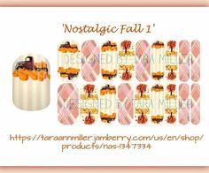 'Nostalgic Fall 1' Some more Fall fun! Jamberry nail wraps are so fun & unique 🍊❤Order from link in bio or link in photo. #jamberry #jamberryaddict #jamberrynas #customdesign #nailart #notd #ootd #fashion #style #mani #mixedmani #pamperyourself #giftidea #fall #autumn #pumpkins #nostalgia #changingleaves #pink #stripes #orange #season #holiday