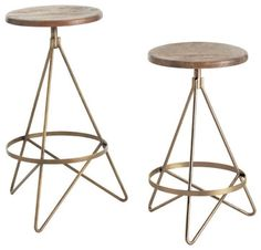 Wyndham Wood/Iron Swivel Barstool - transitional - Bar Stools And Counter Stools - Bliss Home & Design