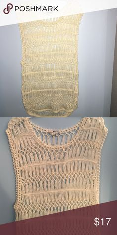 White Beach cover up Crotched beach see-through cover up - never worn Tops Tank Tops