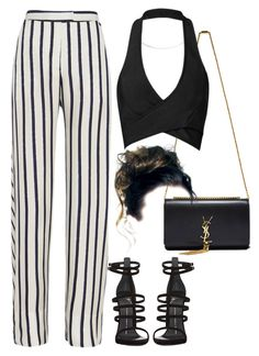 Untitled #480 by chandele on Polyvore featuring polyvore fashion style Posh Girl Nicholas Giuseppe Zanotti Yves Saint Laurent clothing