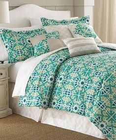 Blue Natasha Embellished Comforter Set - like these colors maybe