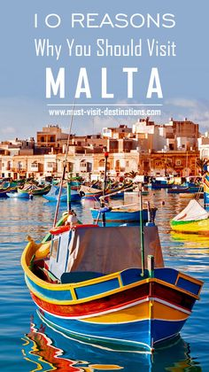 TOP 10 Reasons Why You Should Visit Malta. #malta #travel