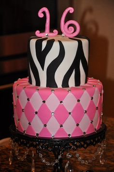 Sweet 16 Cake by Designer Cakes By April, via Flickr