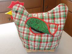 Diary of a Crafty Lady: Chicken Roll Holder Basket Cover