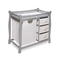 Features:  Ample Room For Diaper Changing On Top With Storage Baskets And A  Hamper