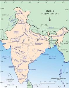 Tungabhadra River Rivers Of Bharat Hindusthan India - List of major rivers
