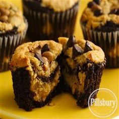 Chocolate-Peanut Butter Layered Cupcakes from Pillsbury® Baking
