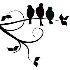 floral branch silhouette - Google zoeken                                                                                                                                                                                 Plus