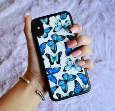 Jan 2020 - Lilac Reign Bluu Butterflies Case for iPhone Girl Phone Cases, Cute Phone Cases, Iphone Phone Cases, Iphone 5s, Diy Phone Case Design, Wildflower Phone Cases, Pretty Iphone Cases, Aesthetic Phone Case, Reign