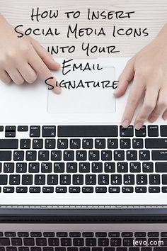 How to insert social media icons into your email signature