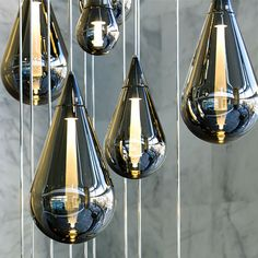 contemporary pendant lamp (blown glass) FLUID Beau McClellan Design