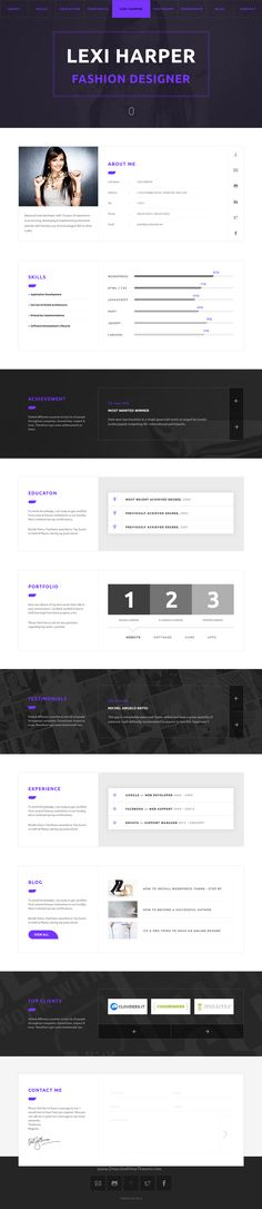 RStill - CV\/Resume - resume website template