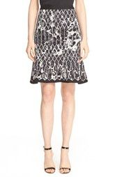 Herve Leger Print Flared Pencil Skirt $890