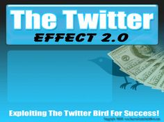The Twitter Effect Video Seminar !! Who Else Wants To Learn The Insider Secrets To Using Twitter To Gain New Friends, Get More Traffic, And Make More Sales? The Internet is changing every day, there's no doubt about that and if you don't keep up with the changes, you and your business will get left behind. It's well known that Web 2.0 has been around for a while and has ushered in a new wave of social networking sites that allow for better communication.