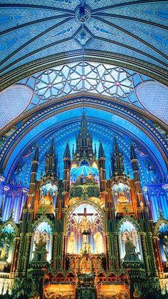 Basílica de Notre-Dame, de Montreal, Canadá.