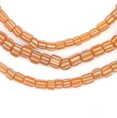 Tangerine Orange Java Gooseberry Beads
