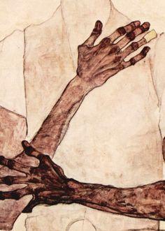 Egon Schiele, Porträt des Erwin von Graff (detail)