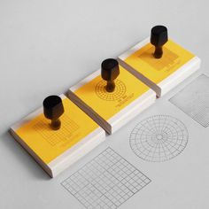 Graph rubber stamps.