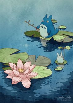 Chibi totoro fishing - ukiyoe style by Syntetyc on DeviantArtYou can find Totoro and more on our website.Chibi totoro fishing - ukiyoe style by Syntetyc on DeviantArt Studio Ghibli Films, Art Studio Ghibli, Chibi, Animes Wallpapers, Cute Wallpapers, Personajes Studio Ghibli, Anime Studio, Illustration Studio, My Neighbor Totoro