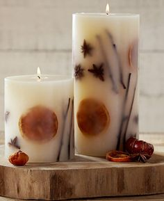 Make easy autumn candles!