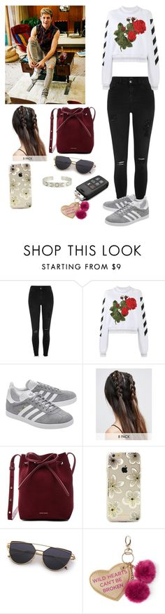 """Running errands with Niall"" by joelene-garcia ❤ liked on Polyvore featuring River Island, Off-White, adidas Originals, ASOS, Mansur Gavriel, Sonix and Under One Sky"
