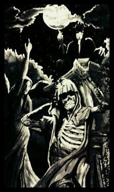 Gothic Vampire Ink Art by Mikaere Raimona