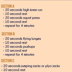 Quick Workouts ....