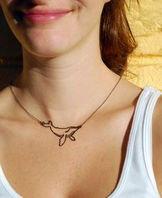 Humpback whale necklace + 2 tickets to go whale watching <3 The perfect surprise